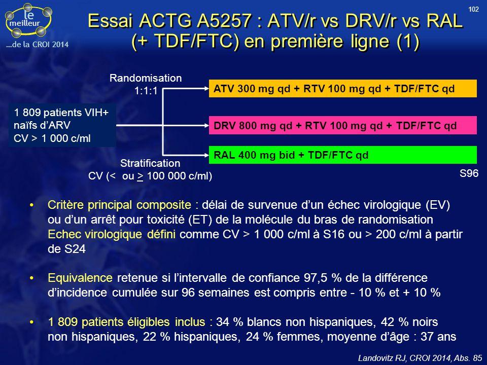Stratification CV (< ou > 100 000 c/ml)