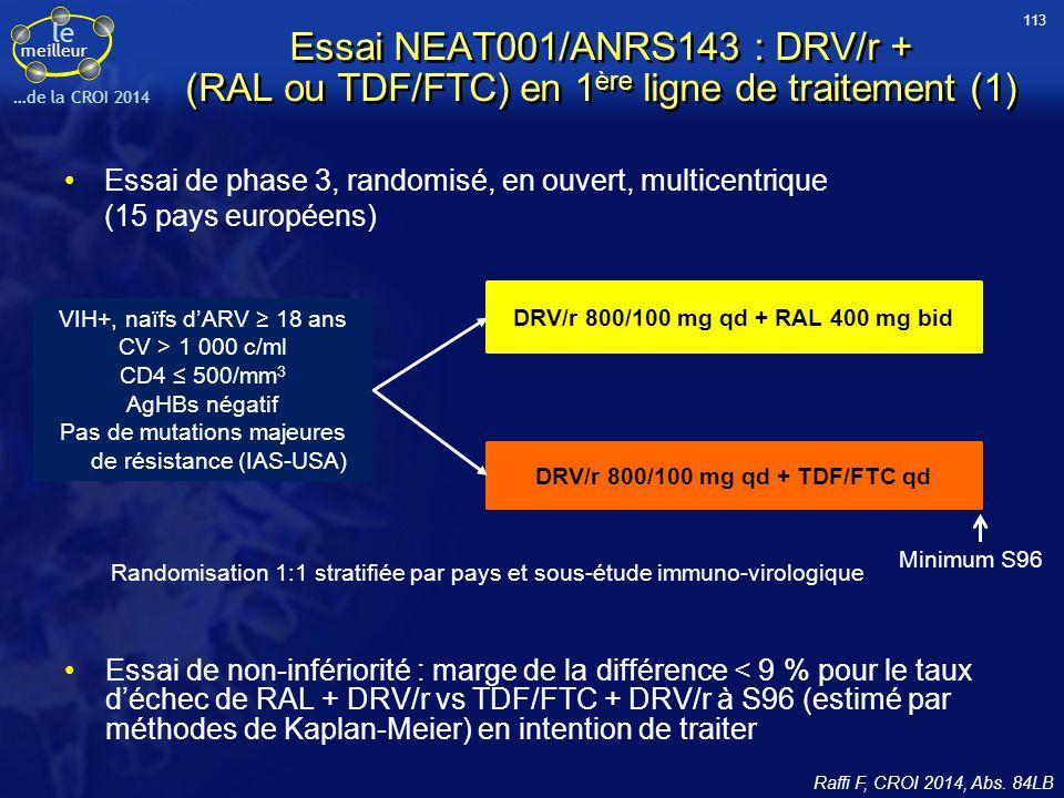 DRV/r 800/100 mg qd + TDF/FTC qd