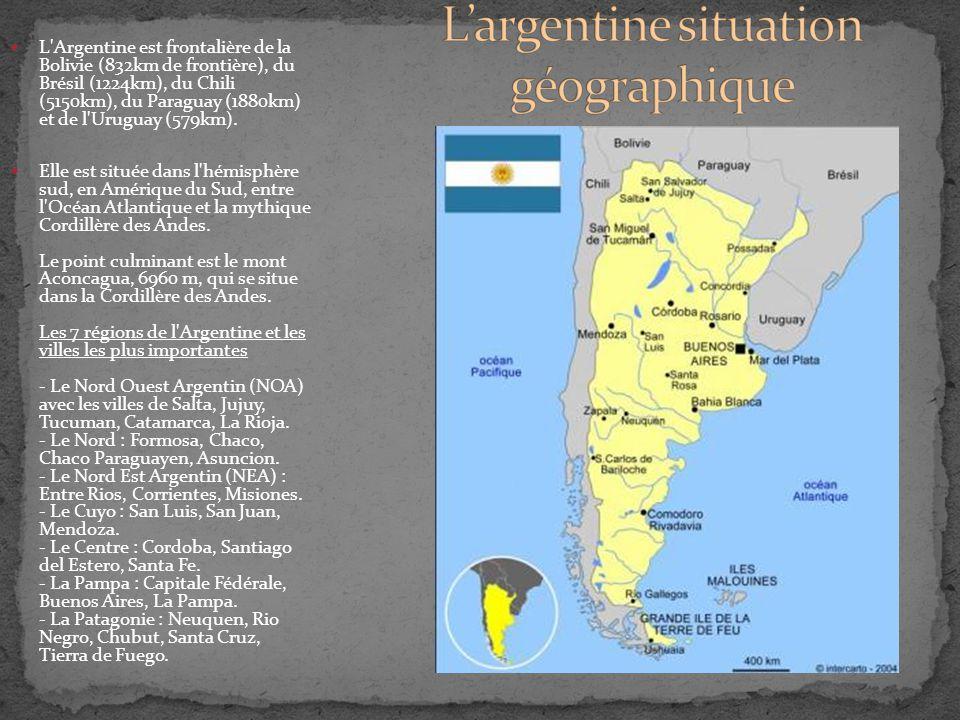 L'argentine situation géographique