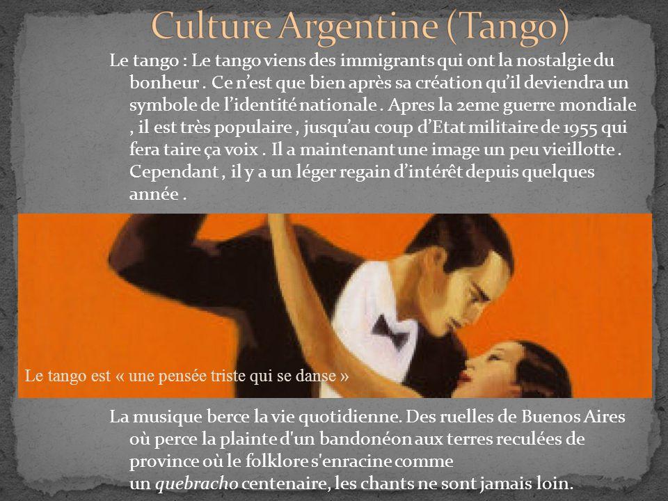 Culture Argentine (Tango)