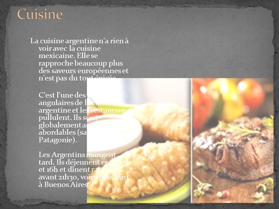 L argentine tango gauchos pampa patagonie terre de feu for Argentine cuisine culture