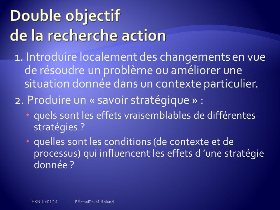 Double objectif de la recherche action