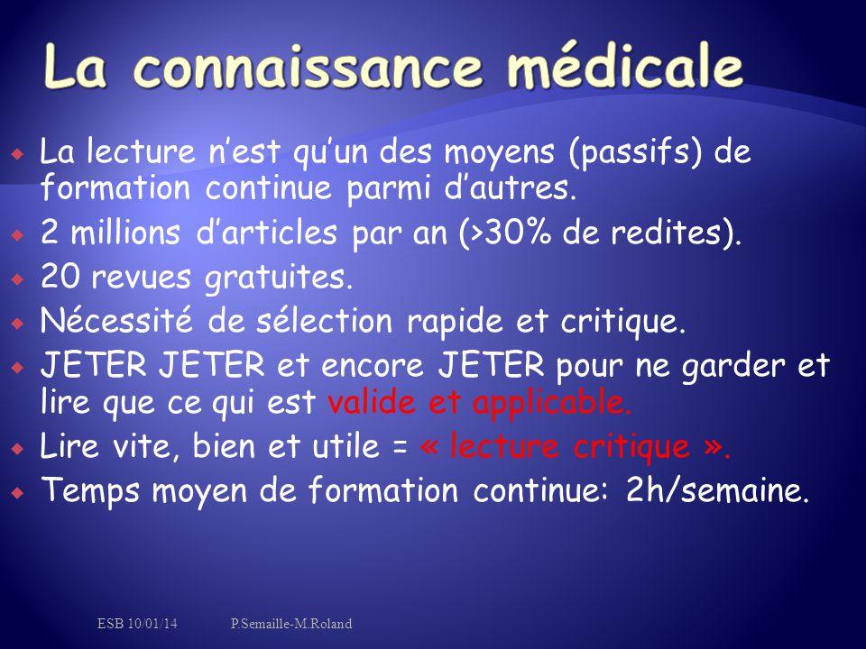 La connaissance médicale