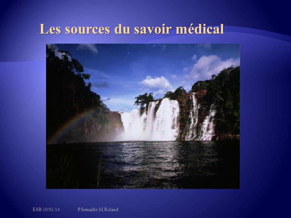 Les sources du savoir médical
