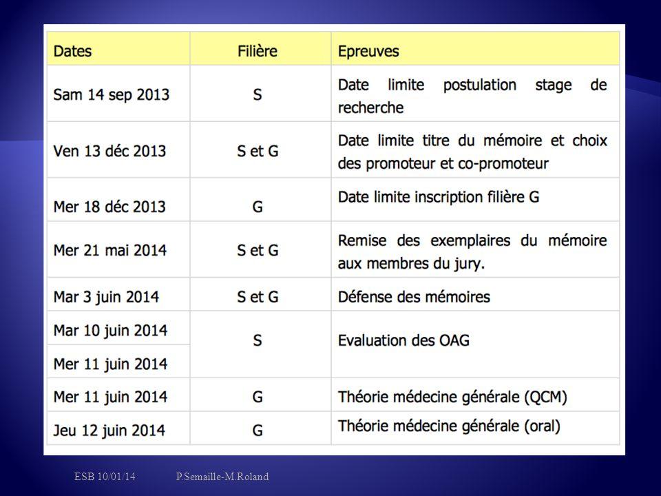 ESB 10/01/14 P.Semaille-M.Roland