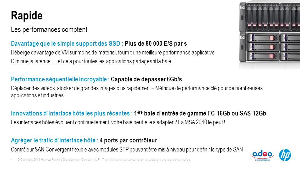 Les performances comptent