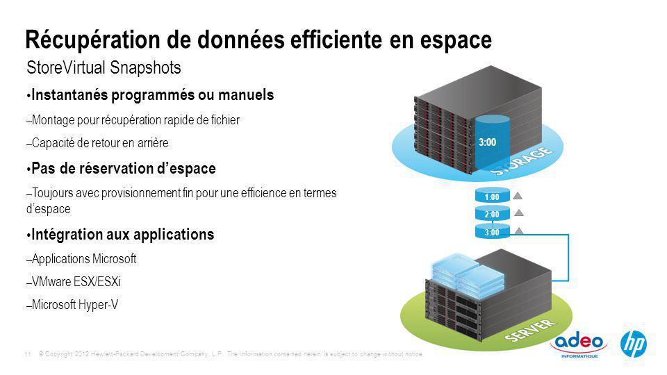 Récupération de données efficiente en espace