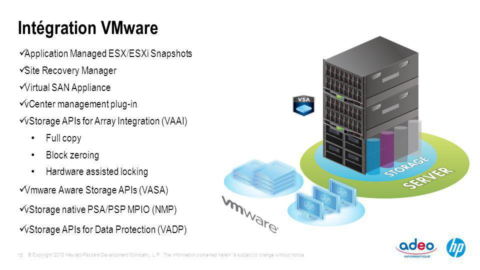 Intégration VMware Application Managed ESX/ESXi Snapshots