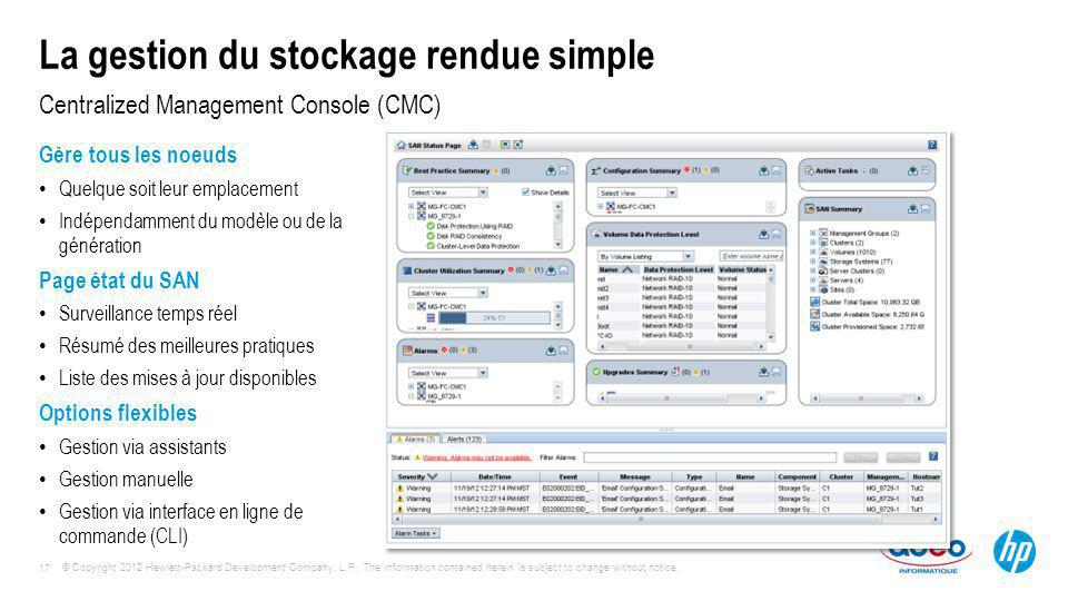 La gestion du stockage rendue simple