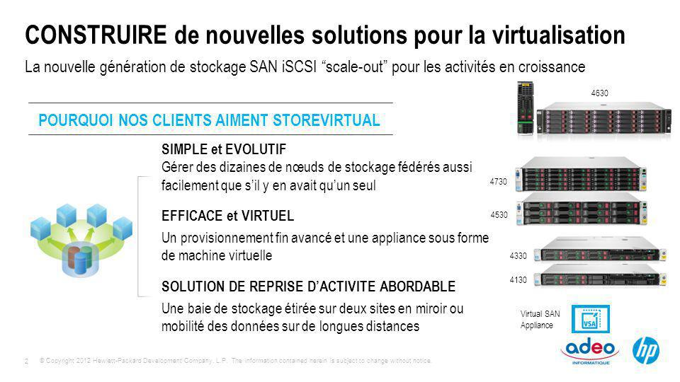 CONSTRUIRE de nouvelles solutions pour la virtualisation