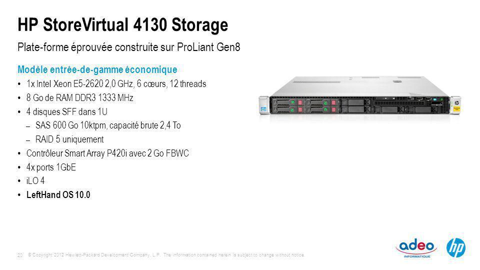 HP StoreVirtual 4130 Storage
