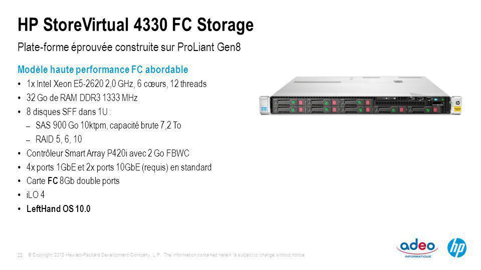 HP StoreVirtual 4330 FC Storage