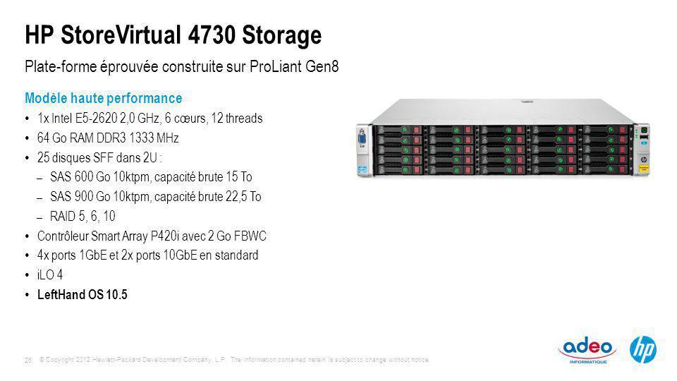 HP StoreVirtual 4730 Storage