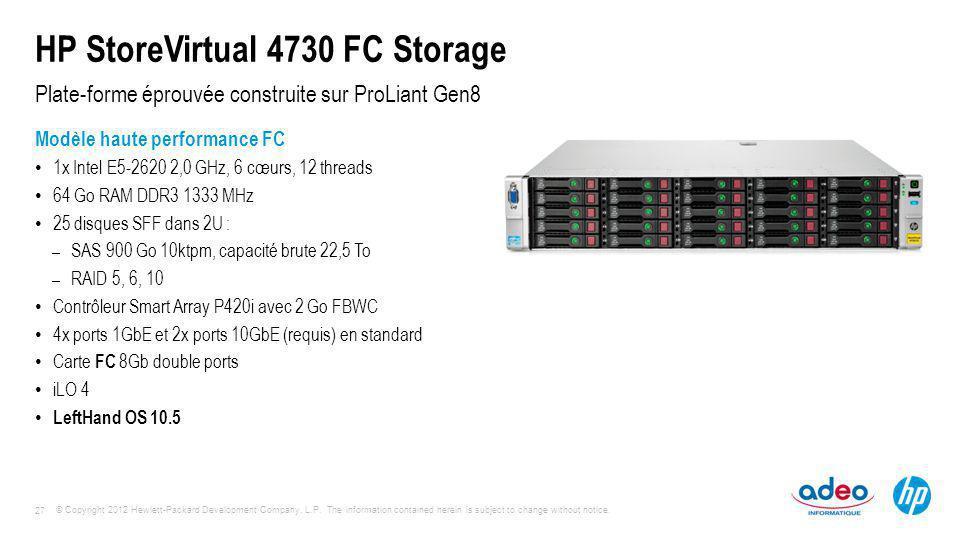 HP StoreVirtual 4730 FC Storage