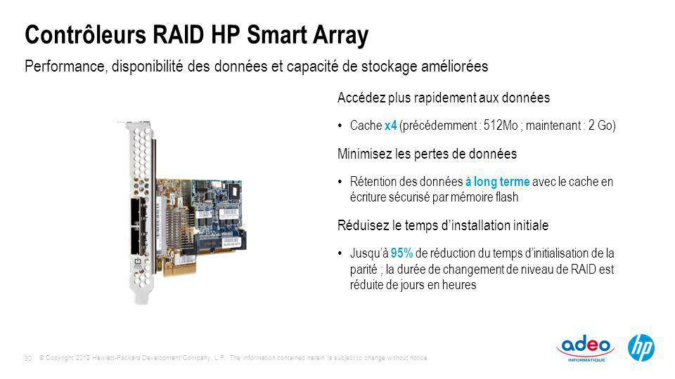 Contrôleurs RAID HP Smart Array
