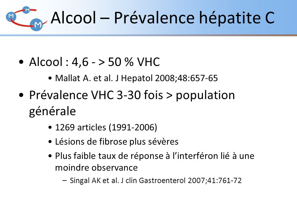 Alcool – Prévalence hépatite C