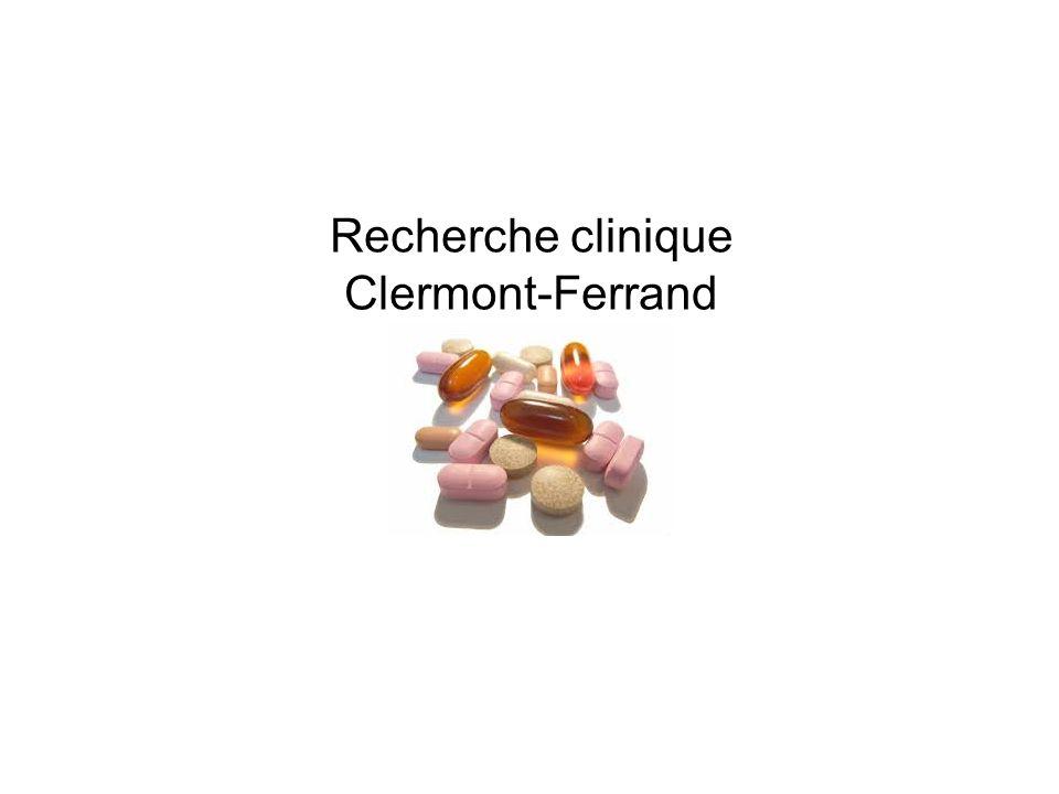Recherche clinique Clermont-Ferrand