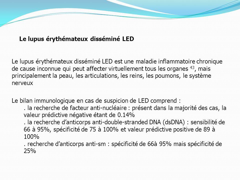 Le lupus érythémateux disséminé LED