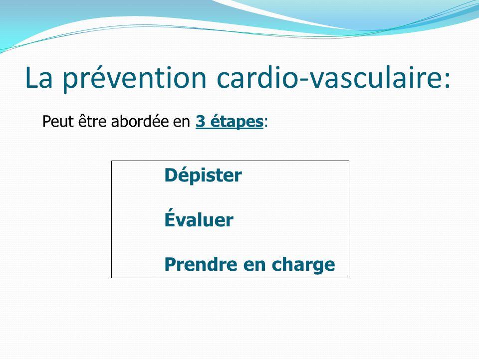 La prévention cardio-vasculaire: