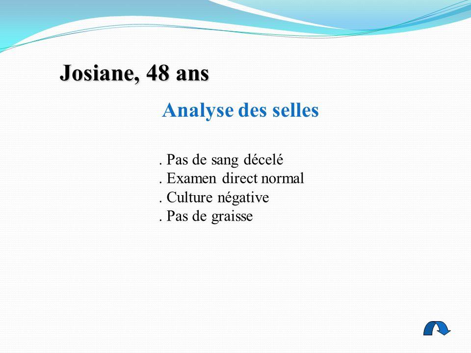 Josiane, 48 ans Analyse des selles