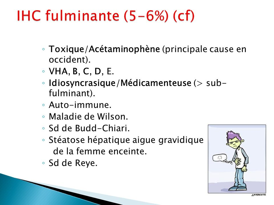 IHC fulminante (5-6%) (cf)