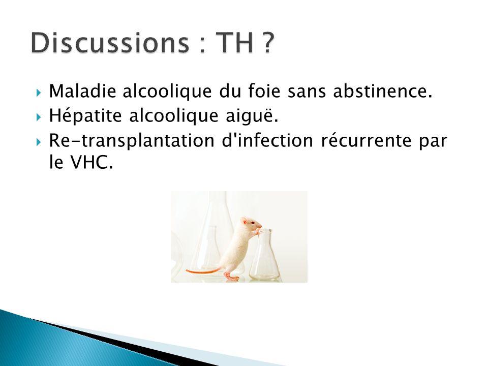 Discussions : TH Maladie alcoolique du foie sans abstinence.