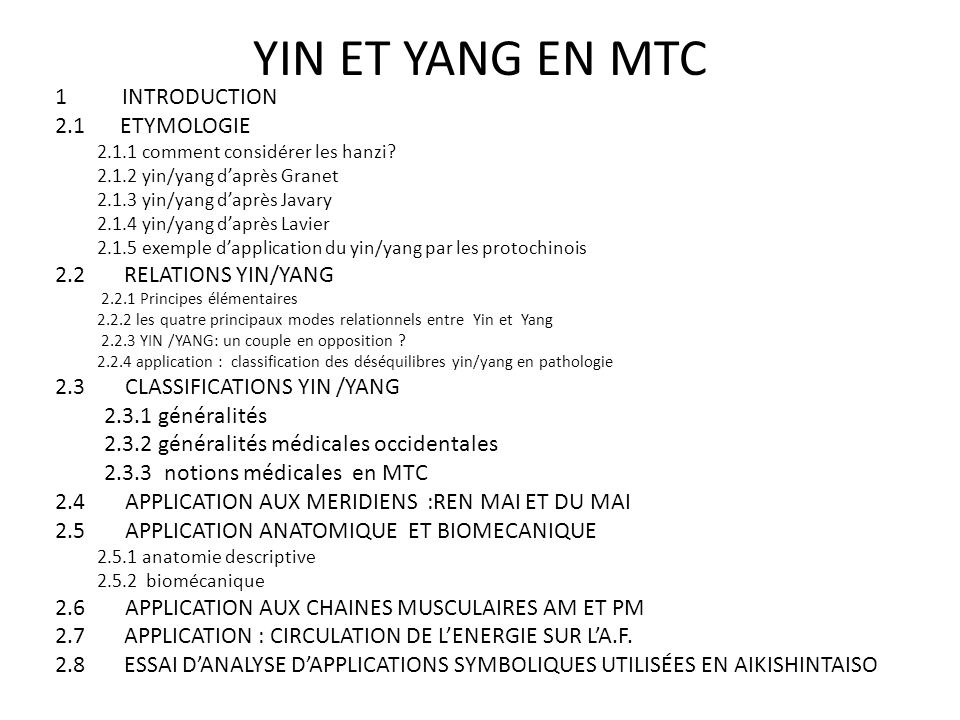 YIN ET YANG EN MTC 1 INTRODUCTION 2.1 ETYMOLOGIE