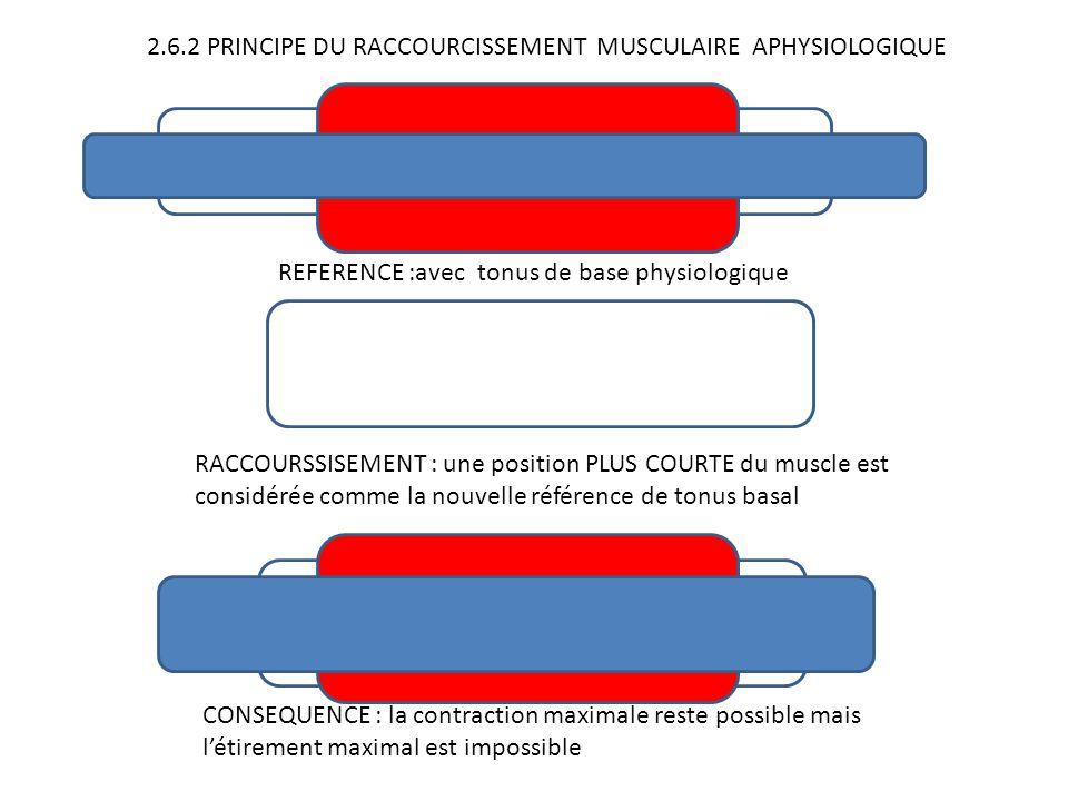 2.6.2 PRINCIPE DU RACCOURCISSEMENT MUSCULAIRE APHYSIOLOGIQUE