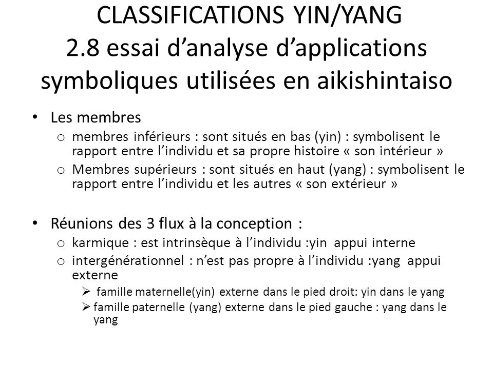 CLASSIFICATIONS YIN/YANG 2