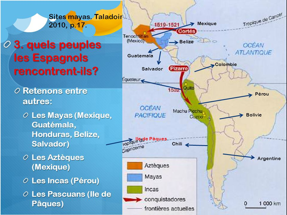 3. quels peuples les Espagnols rencontrent-ils