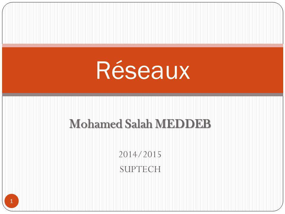 Mohamed Salah MEDDEB 2014/2015 SUPTECH