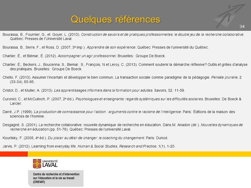 Quelques références Bourassa, Picard et Skakni, 2014
