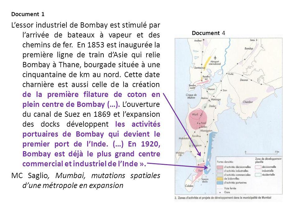 MC Saglio, Mumbai, mutations spatiales d'une métropole en expansion