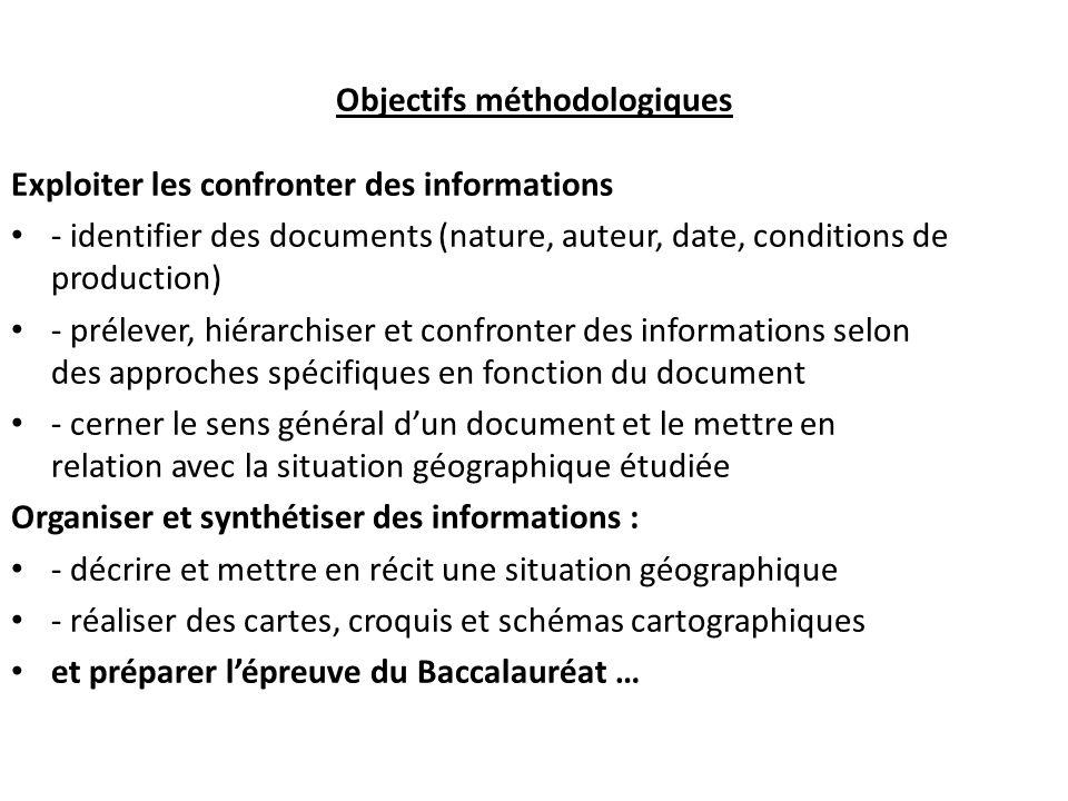 Objectifs méthodologiques