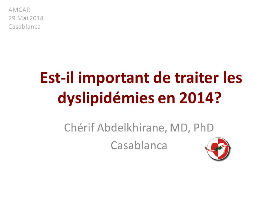 Est-il important de traiter les dyslipidémies en 2014