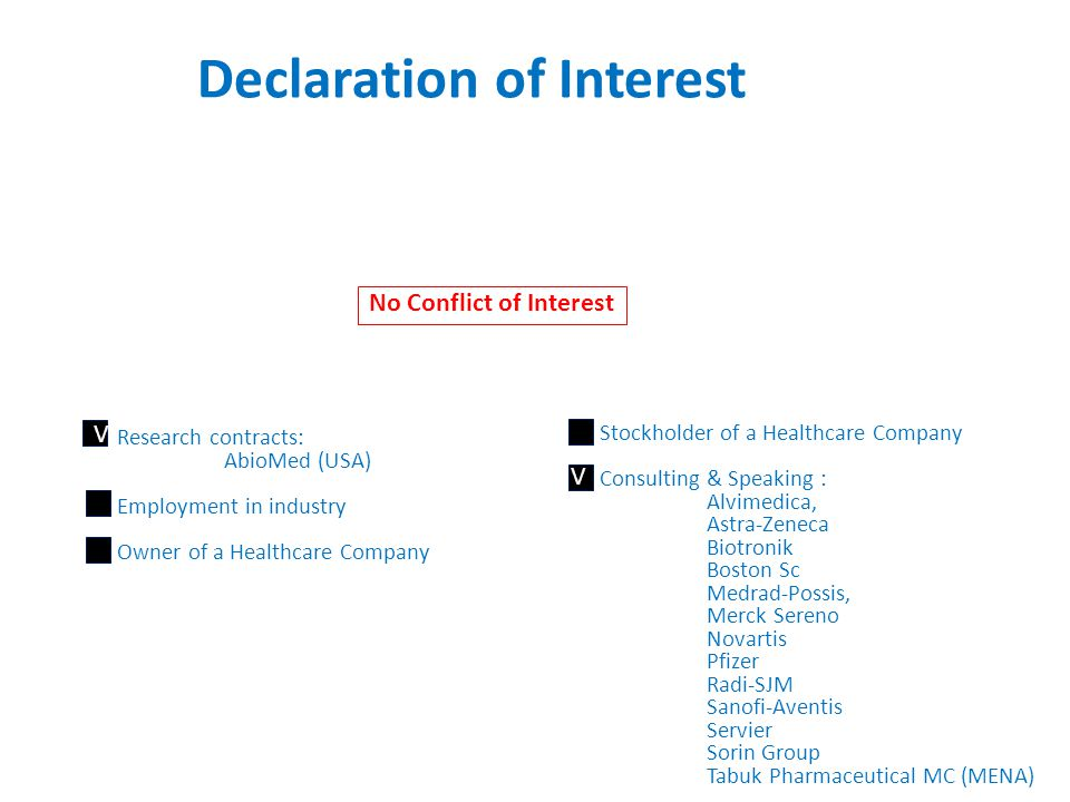 Declaration of Interest
