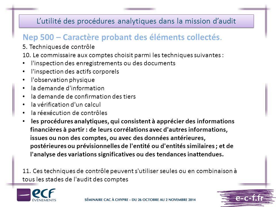 L'utilité des procédures analytiques dans la mission d'audit