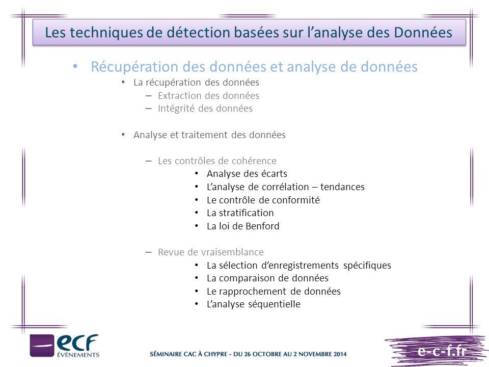 Les techniques de détection basées sur l'analyse des Données