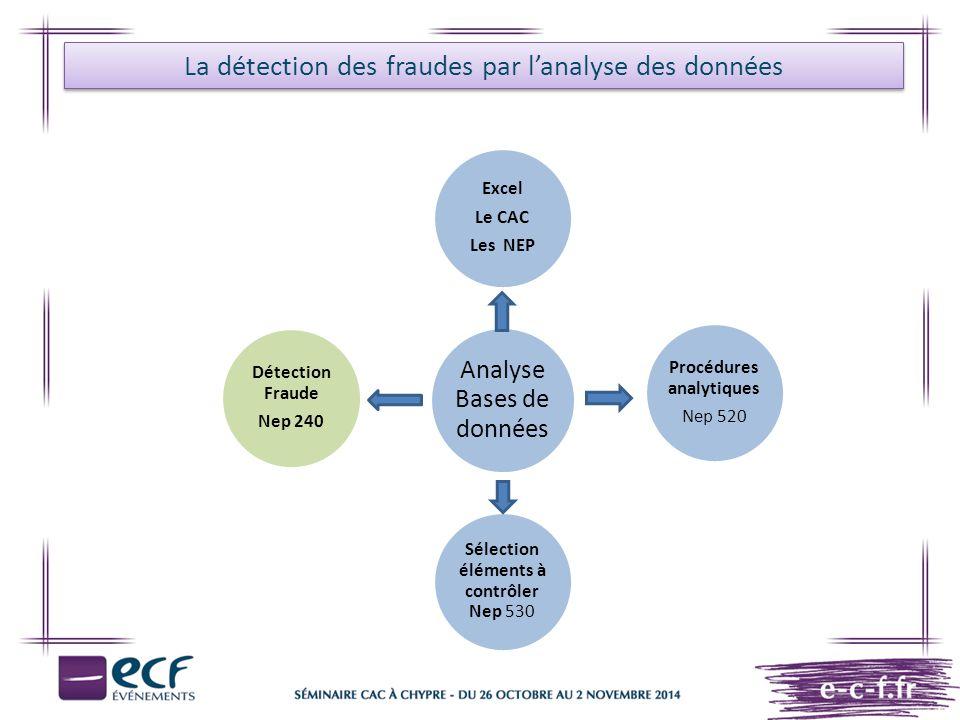 La détection des fraudes par l'analyse des données