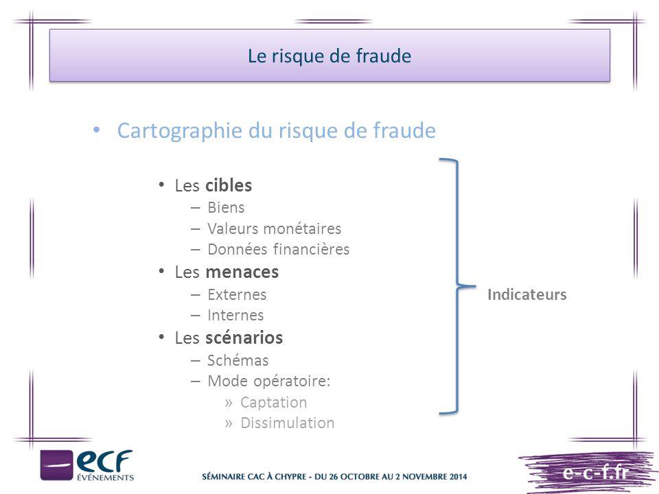 Cartographie du risque de fraude
