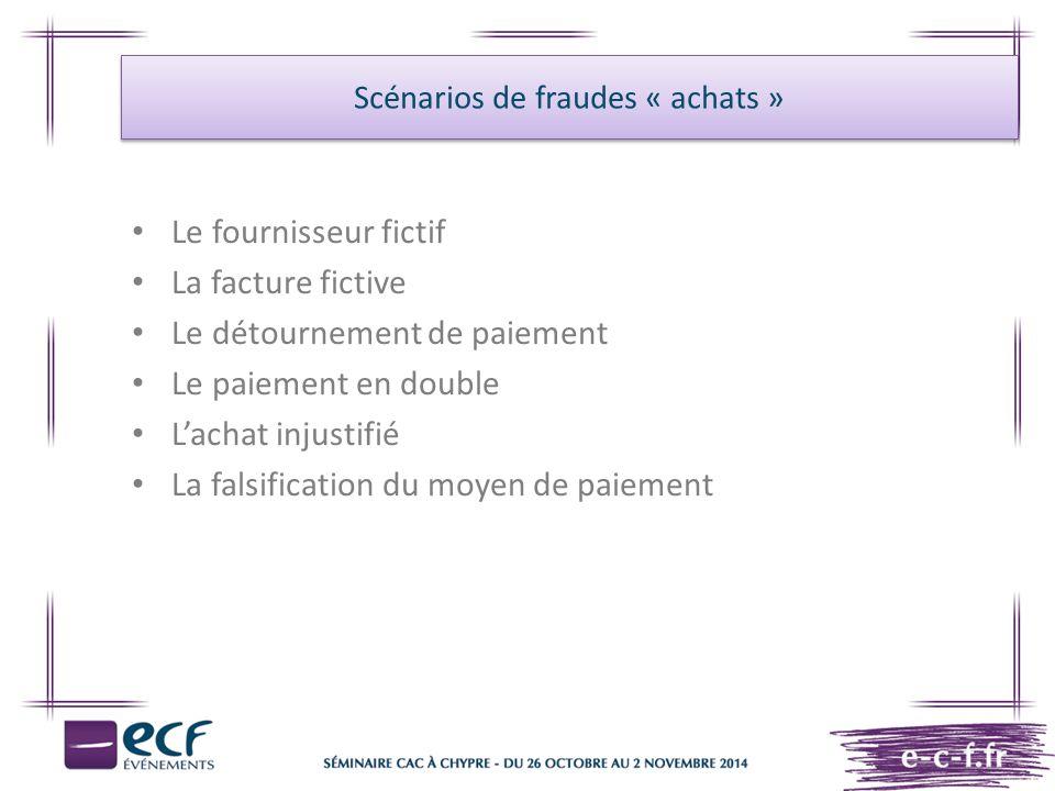Scénarios de fraudes « achats »