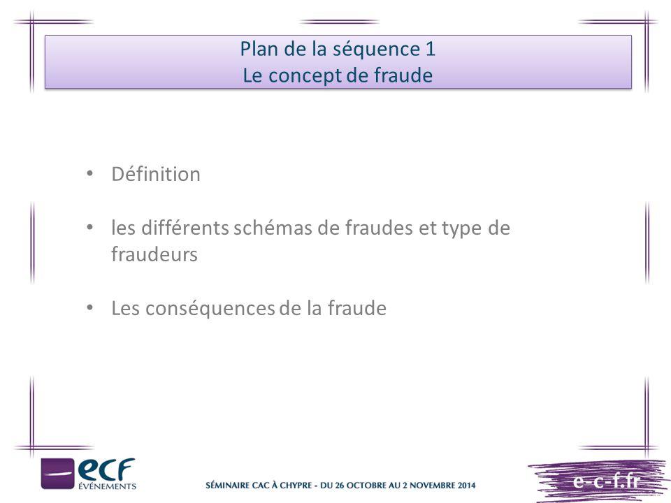 Plan de la séquence 1 Le concept de fraude