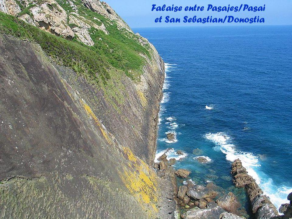 Falaise entre Pasajes/Pasai et San Sebastian/Donostia
