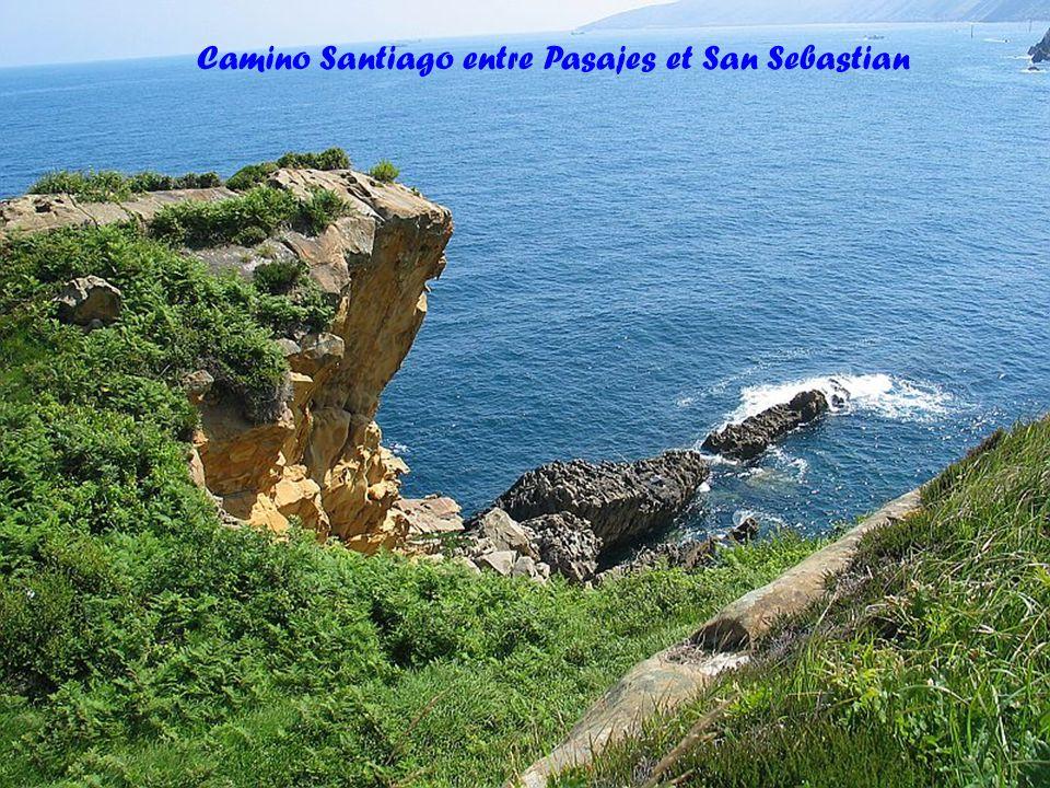 Camino Santiago entre Pasajes et San Sebastian