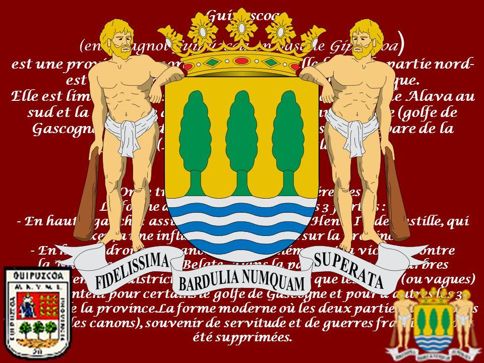 Guipuscoa (en espagnol Guipúzcoa, en basque Gipuzkoa) est une province du nord de l'Espagne.