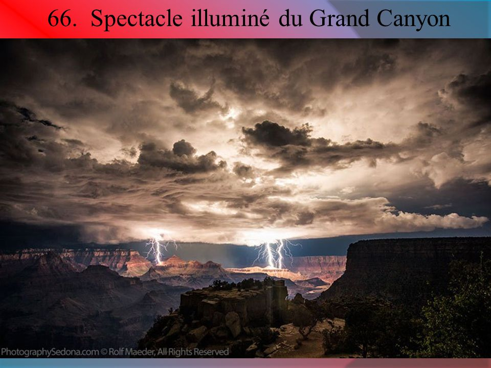 66. Spectacle illuminé du Grand Canyon