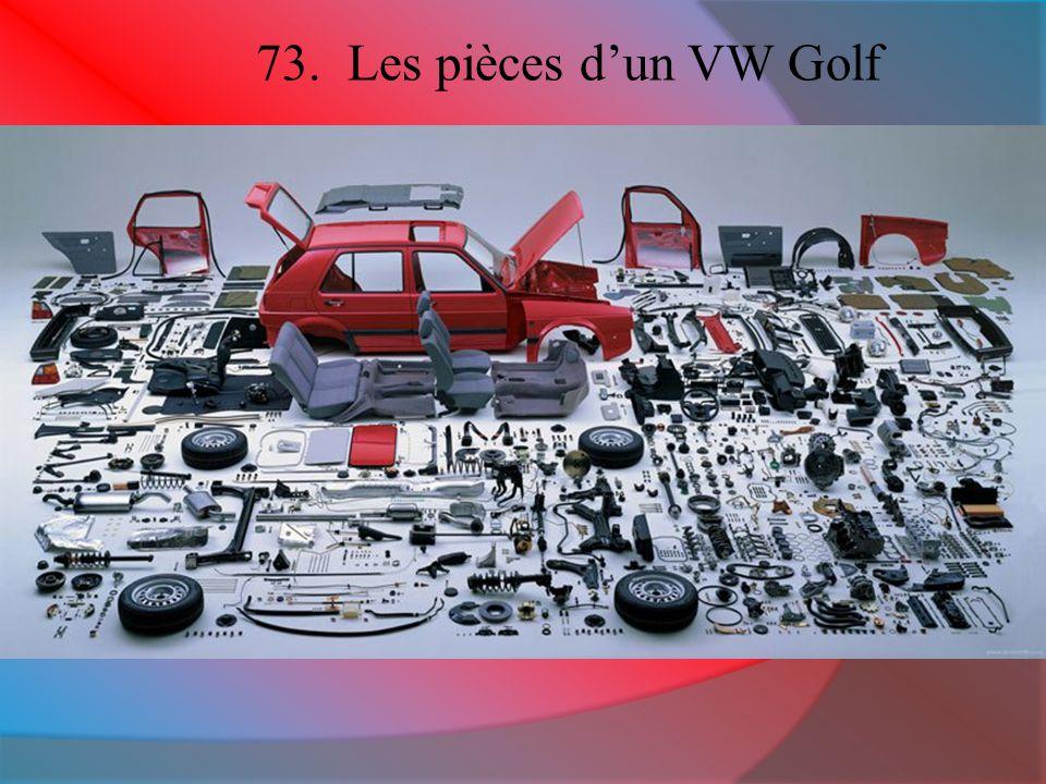 73. Les pièces d'un VW Golf