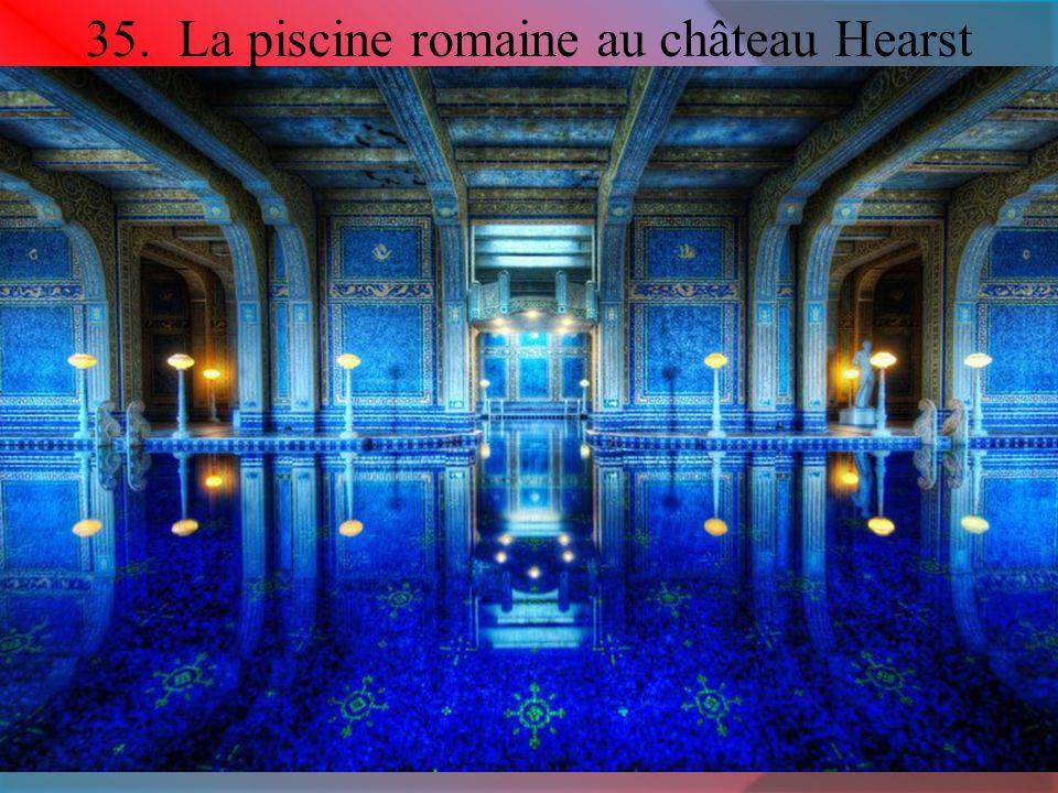 35. La piscine romaine au château Hearst