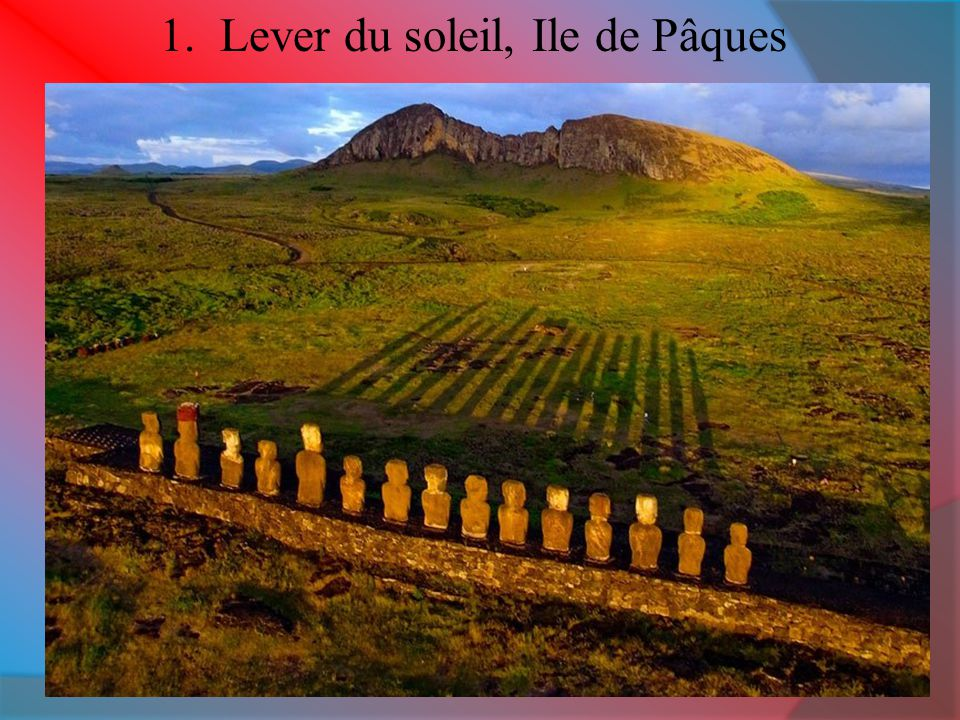 1. Lever du soleil, Ile de Pâques