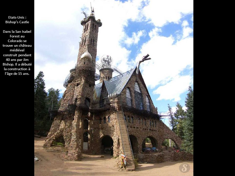 Etats-Unis : Bishop s Castle Dans la San Isabel Forest au Colorado se trouve un château médiéval construit pendant 40 ans par Jim Bishop.